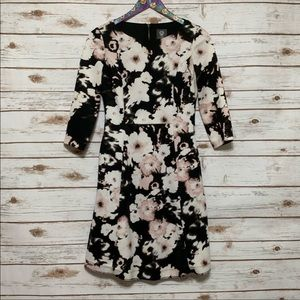Vince Camuto Long Sleeve Floral Dress